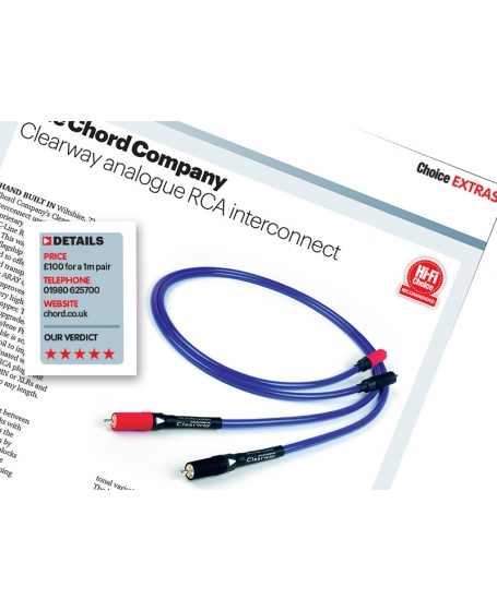 Chord Cadenza Reference 1M Interconnect UK