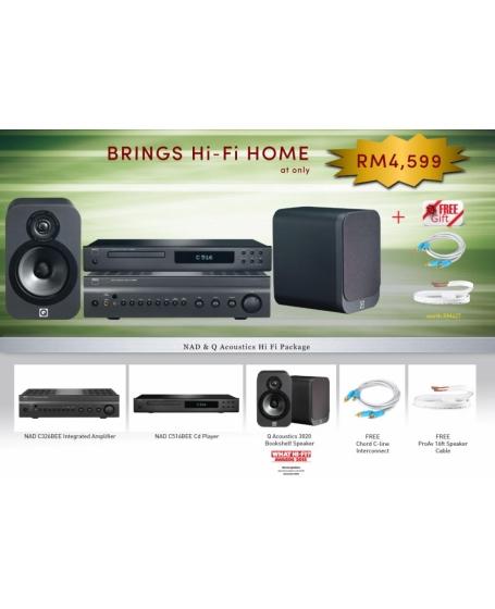 Nad & Q Acoustics Hi Fi Package