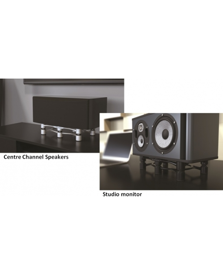 IsoAcoustics Aperta300 Sculpted Aluminum Speaker Isolation Stands (Each)