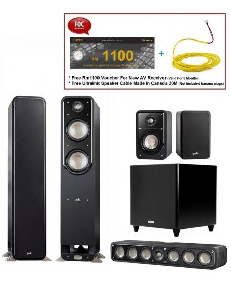 Polk Audio S55 Signature 5.1 Speaker Package