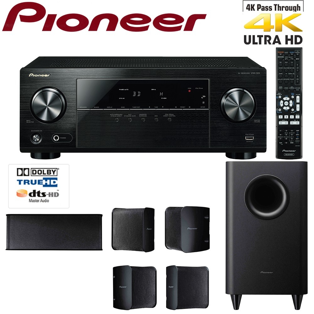 pioneer htp 074 5 1 channel home theatre system. Black Bedroom Furniture Sets. Home Design Ideas
