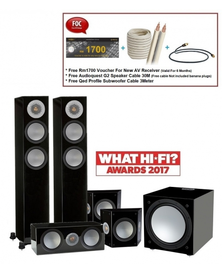 Monitor Audio Silver 200 5.1 Speaker Package.