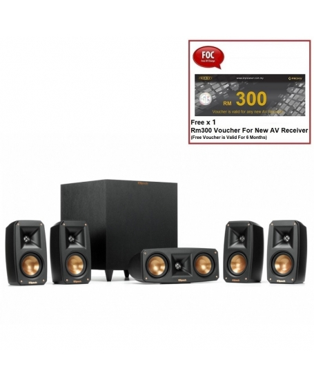 Klipsch Reference Theater Pack 5.1Ch Satellite Speaker Package With R-8SW Subwoofer