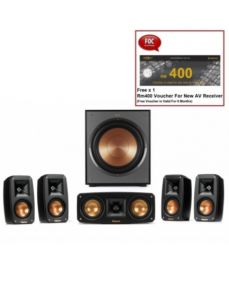 Klipsch Reference Theater Pack 5.1Ch Satellite Speaker Package With R-100SW Subwoofer