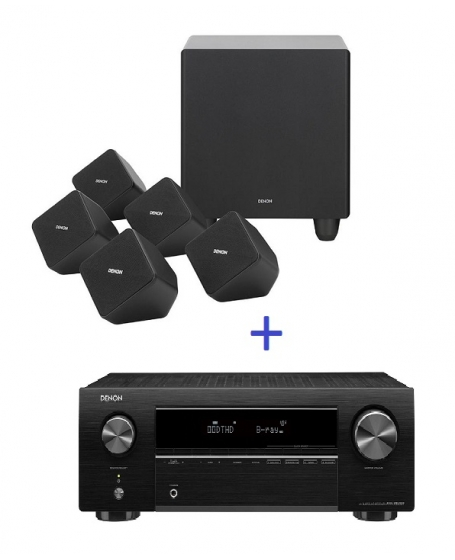 Denon AVR-X250BT 5.1Ch Satellite Home Theater System