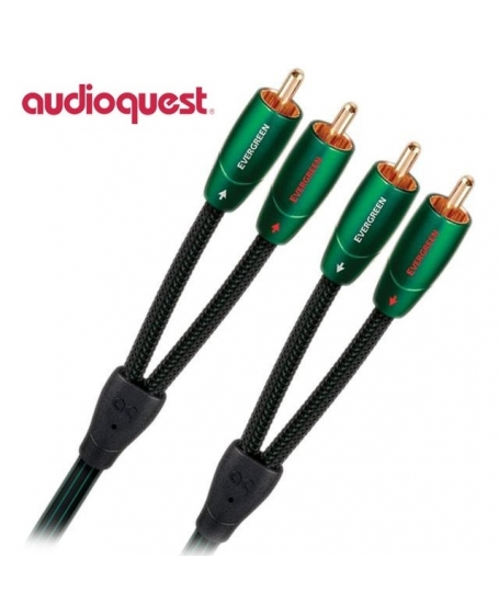 Audioquest Evergreen RCA to RCA Interconnect 1.5Meter