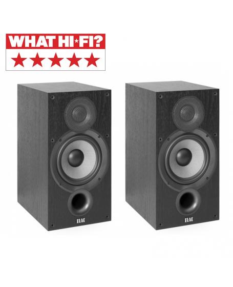 ELAC Debut 2.0 B6.2 Bookshelf Speaker (Black)