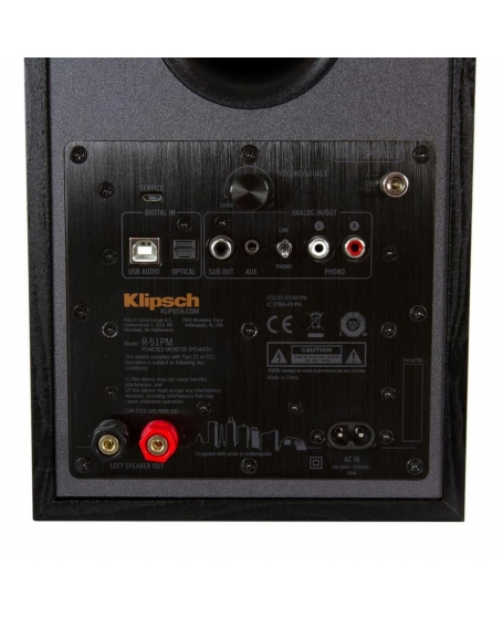 Klipsch R-51PM Power Monitor Speaker With Bluetooth and Phono Input