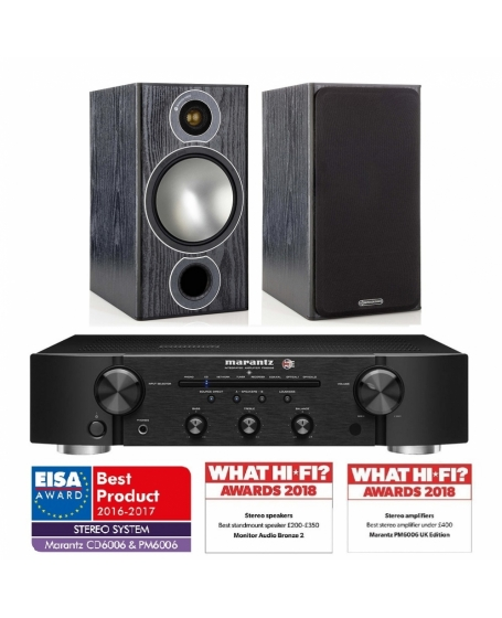 Marantz Pm6006 + Monitor Audio Bronze 2 Hi-Fi System Package