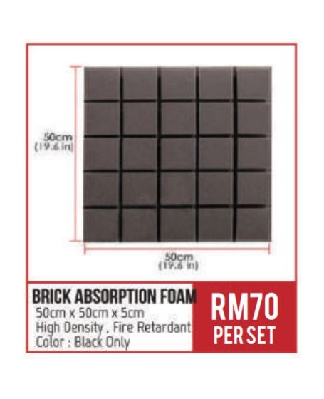 BA Brick Absorption Foam