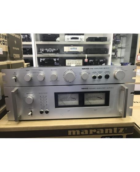 Nikko Beta II Pre Amplifier and Alpha II Power Amplifier ( PL )