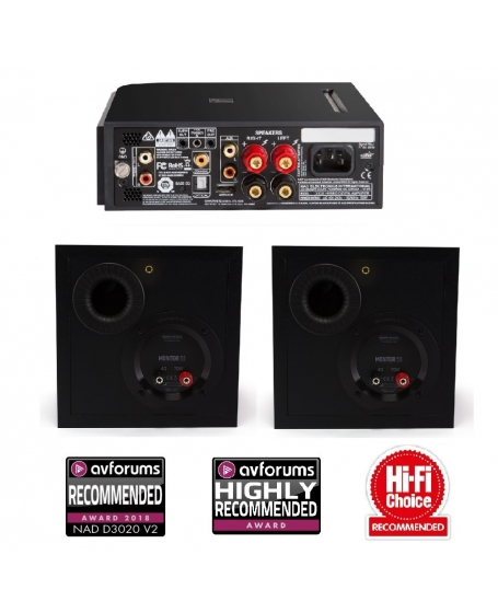 NAD D3020 V2 + Monitor Audio Monitor 50 Hi-Fi System Package