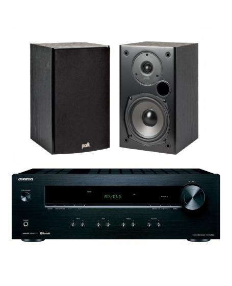 Onkyo TX-8220 + Polk Audio T15 Hi-Fi System Package