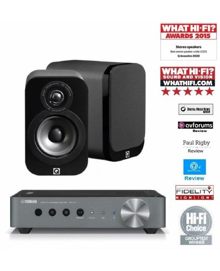 Yamaha WXA-50 + Q Acoustics 3020 Hi-Fi System Package
