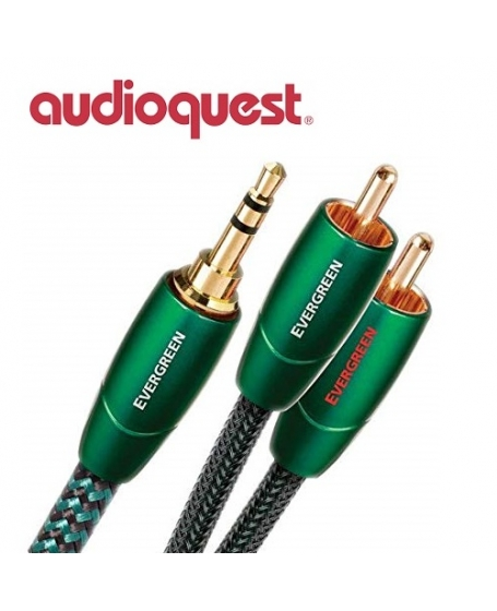 Audioquest Evergreen 3.5mm to RCA Interconnects 1.5Meter