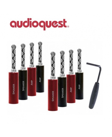 Audioquest SureGrip 100 BFA/Banana Silver (Pack Of 8)