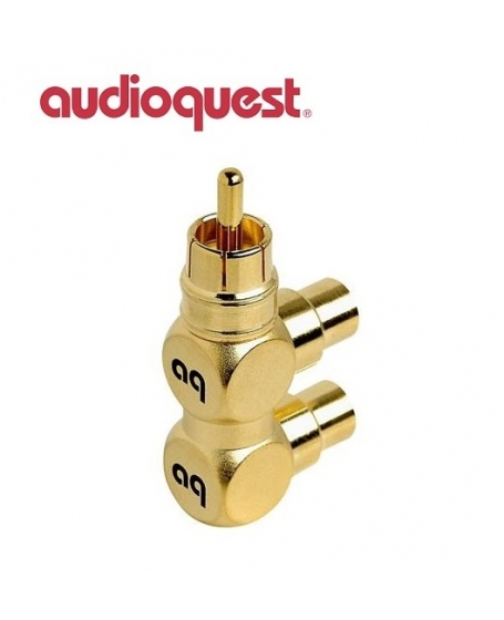 AudioQuest Hard RCA Splitter RCA Male To 2 Female