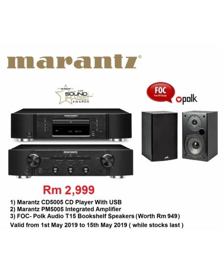 Marantz CD5005 CD Player + Marantz PM5005 Integrated Amplifier HI FI Combo