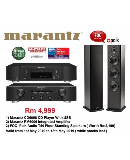 Marantz CD6006 CD Player + Marantz PM6006 Integrated Amplifier HI FI Combo