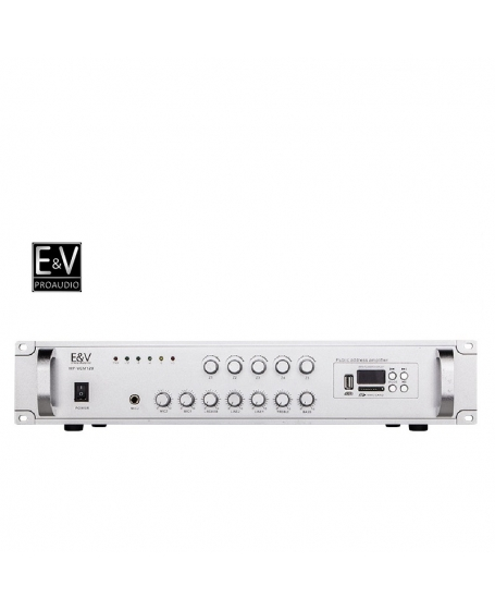 E&V MP-VCM120 5 Zone 120W PA Amplifier with USB, Bluetooth & Microphone