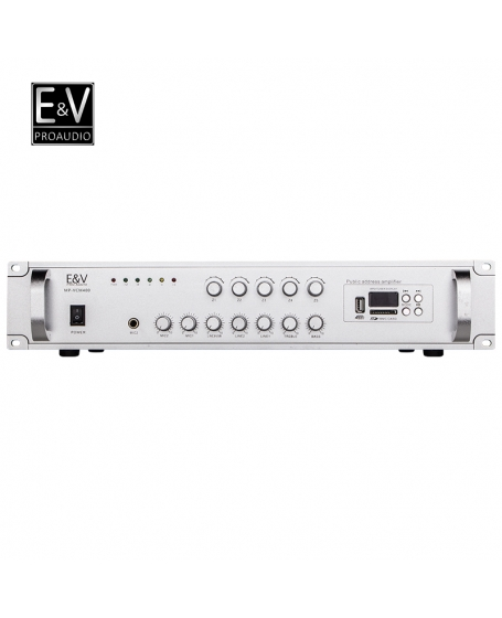 E&V MP-VCM400 5 Zone 400W PA Amplifier with USB, Bluetooth & Microphone
