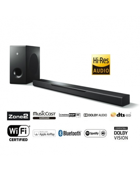 Yamaha YAS-408 Sound Bar With Wireless Subwoofer ( DU )