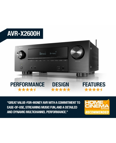 Denon AVR-X2600H 7.2Ch 4K Ultra HD AV Receiver