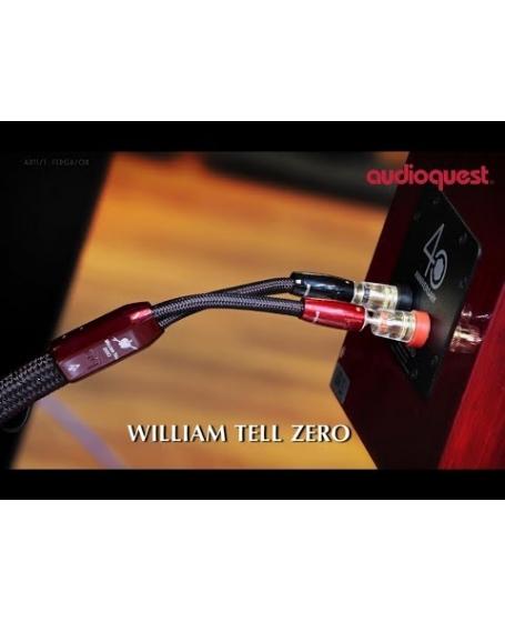 Audioquest  William Tell Zero 3m x 2 Banana to Banana Speaker Cable Made In USA