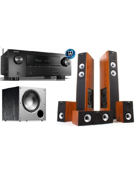 Denon AVR-X2500H + Jamo S626HCS + Polk Audio PSW10 Home Theatre Package