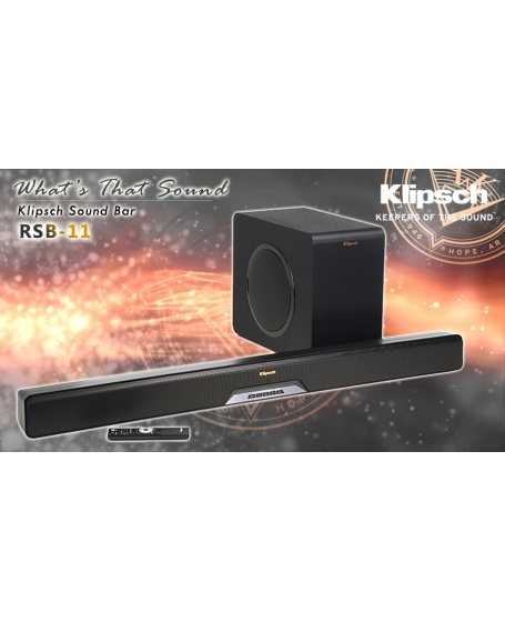 Klipsch Reference RSB-11 Sound Bar with Wireless Subwoofer (DU )