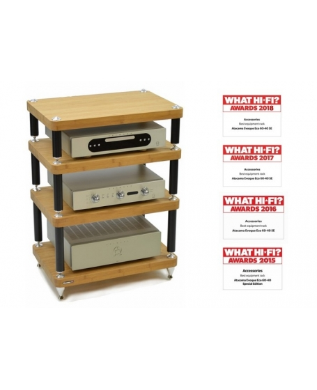 Atacama Evoque Eco 60-40 4 Tiers Hifi Rack Made In England