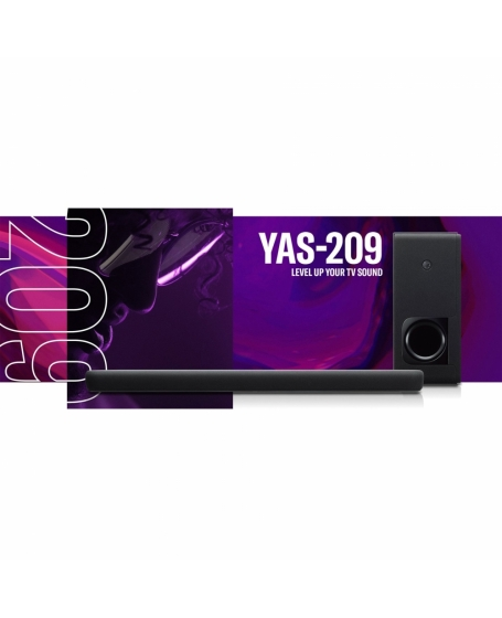 Yamaha YAS-209 Sound Bar With Wireless Subwoofer