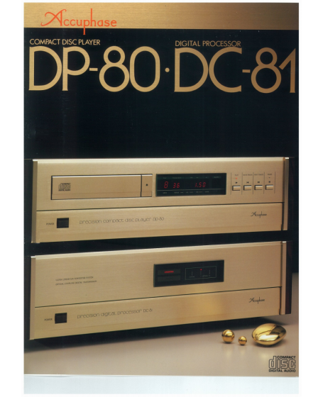 Accuphase DP-80 CD player + DC-81 DAC Made In Japan ( PL )