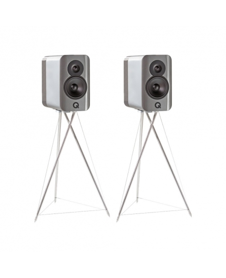 Q Acoustics Concept 300 Bookshelf Speakers With Original Stands ( DU )