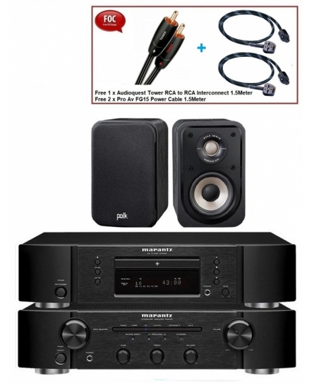 Marantz CD5005 + PM5005 + Polk Audio S10e Hifi Combo