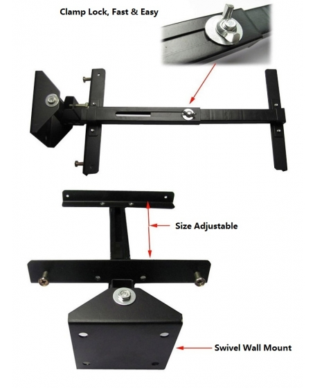SPS 200 Surround Bracket For Bookshelf Speaker