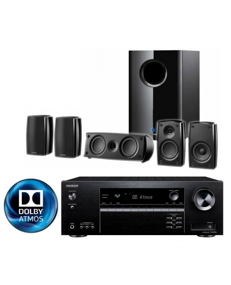 Onkyo TX-SR393 + SKS-HT648 5.1Ch Dolby Atmos Home Theatre Package
