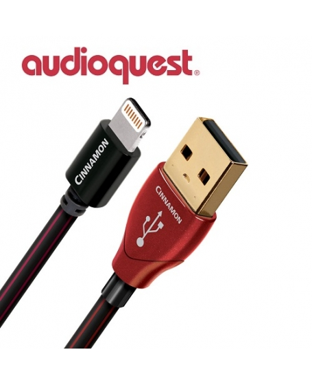 Audioquest Cinnamon Lightning USB Cable 1.5Meter