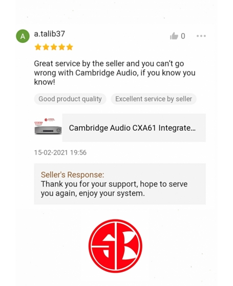 Cambridge Audio CXA61 Integrated Stereo Amplifier