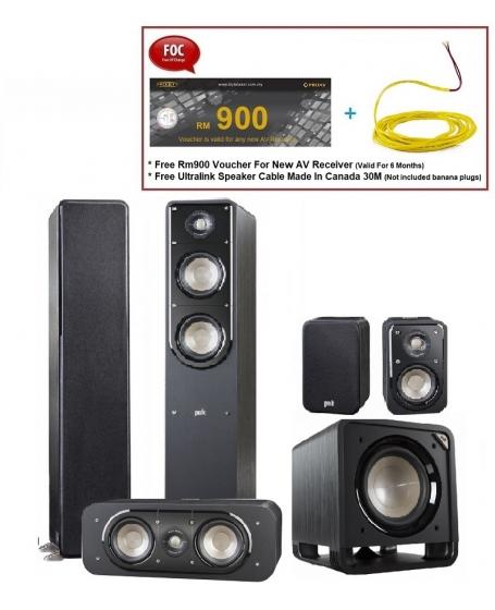 Polk Audio S50 Signature 5.1 Speaker Package
