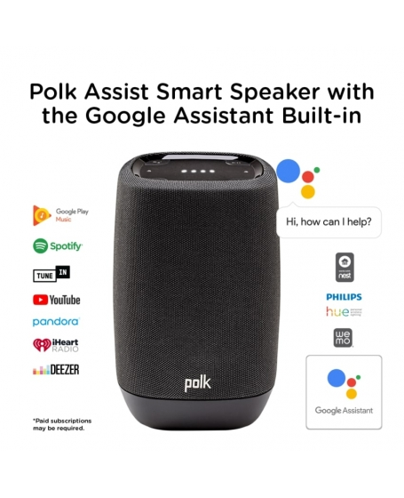 Polk Assist Smart Speaker with the Google Assistant Built-In