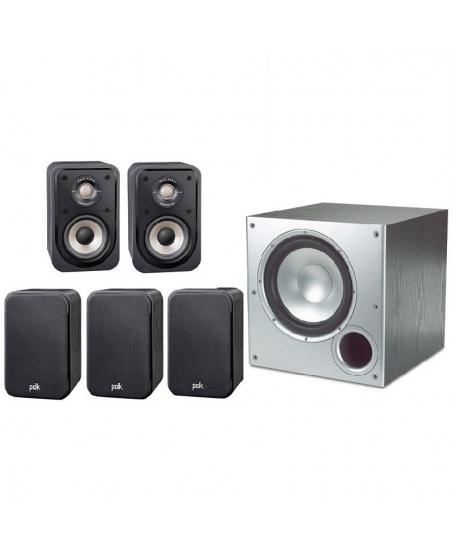 Polk Audio S10e + PSW10 5.1Ch Satellite Speaker Package