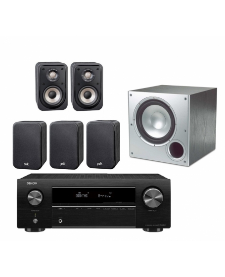 Denon AVR-X250BT + Polk Audio S10e + PSW10 Home Theatre Package