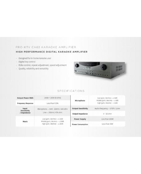 Pro-Ktv CA-63 Karaoke Amplifier