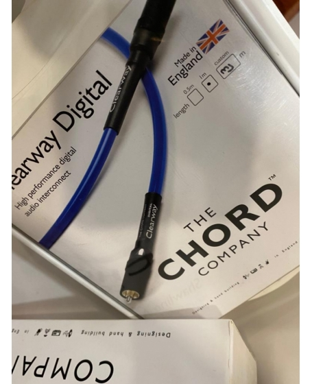 Chord Clearway Digital Coaxial Audio Cable Made In England