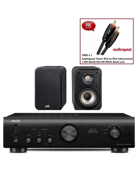 Denon PMA-520AE + Polk S10e Hi-Fi System Package