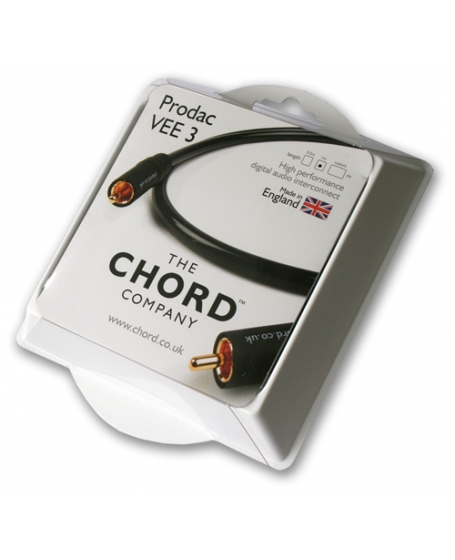 Chord Prodac Vee 3 Digital Coaxial Cable 1m Made In England