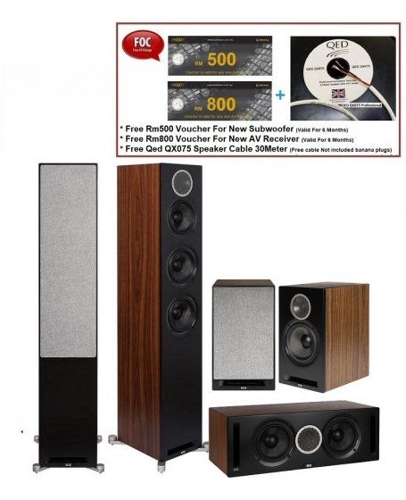 ELAC Debut Reference Series 5pcs Speaker Package
