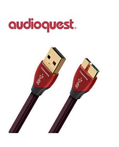 AudioQuest Cinnamon A Plug To Micro Plug USB 3.0 Cable 1.5m
