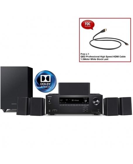 Onkyo HT-S3910  5.1Ch Atmos Satellite Speaker Package